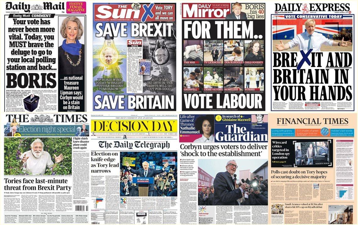 12日是2019英國國會大選的全國投票日,從當地時間上午7點開始至晚間10點為止...