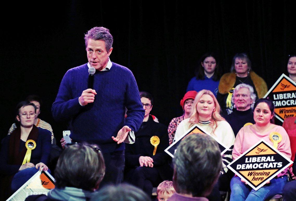 在這波「戰術性棄保」的宣導者中,最引人注目者,就是英國知名男星——休葛蘭(Hug...