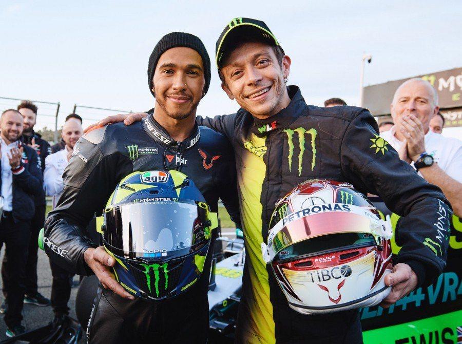圖左:Lewis Hamilton 圖右:Valentino Rossi。 圖/...