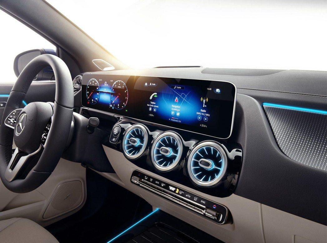 第二代Mercedes-Benz GLA當然也有賓士最新的MBUX多媒體影音系統...