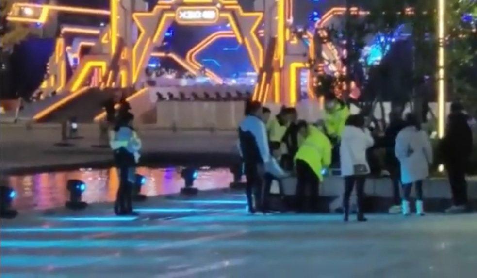高以翔搶救現場影片再曝光。圖/擷自微博