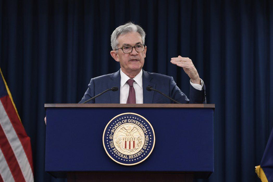 美國聯準會(Fed)主席鮑爾。  美聯社