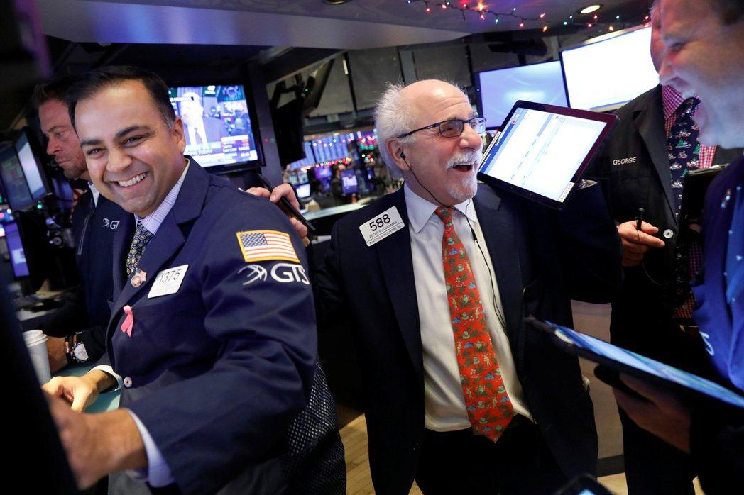 Fed一如預期按兵不動,美股周三小幅上漲。  (路透)
