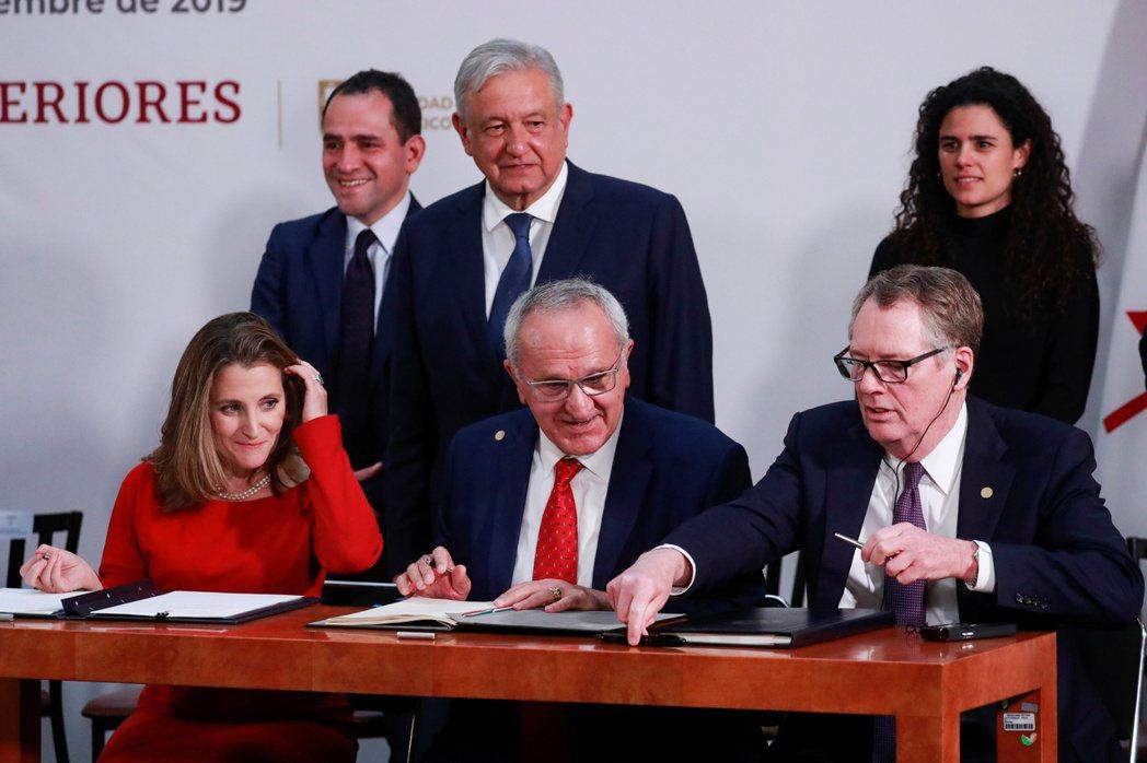 美-墨-加協定正待各國國會批准。 路透