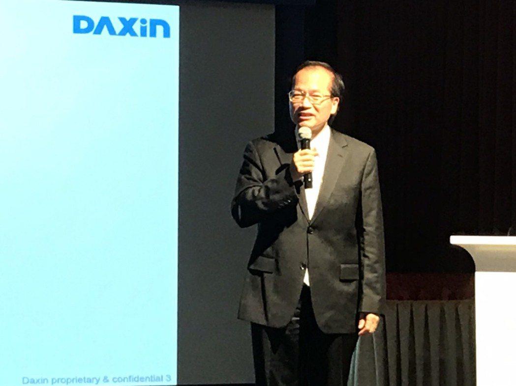 達興材料董事長林正一昨主持法人說明會。記者蔡銘仁/攝影