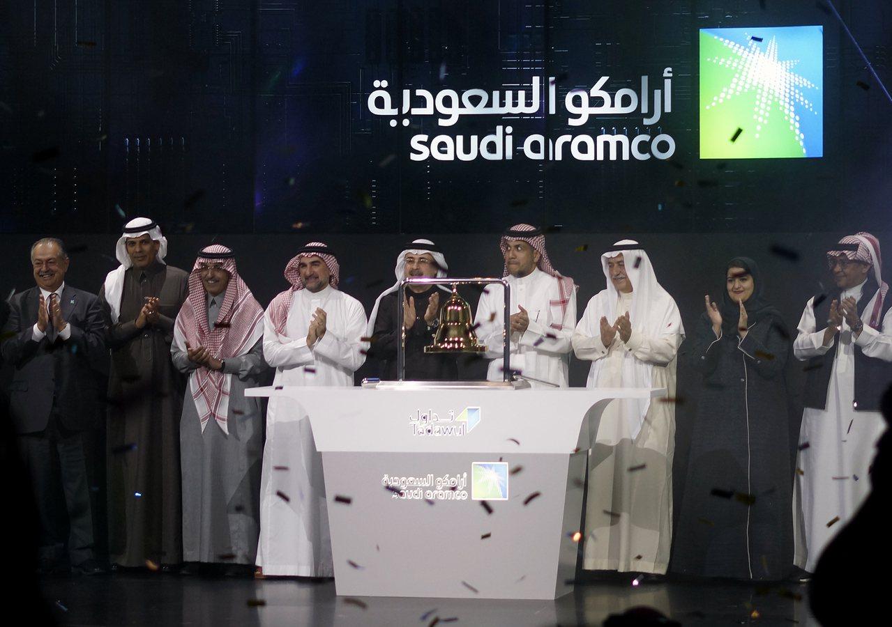 沙烏地阿拉伯國家石油公司(Saudi Aramco)市值突破2兆美元。美聯社