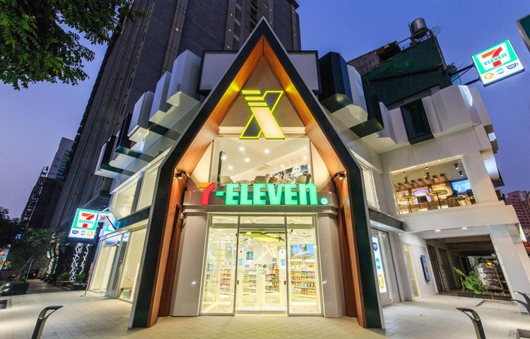 7-ELEVEN「X-STORE 3」為兩層樓獨棟建築、總營業面積92.4坪。圖...