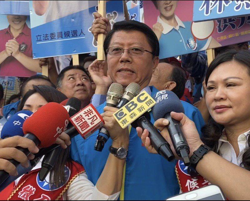國民黨台南市黨部主委謝龍介指台南市綠營的票已鬆動,國民黨只要能夠贏得一席立委,韓國瑜就會當選總統。圖/本報資料照片