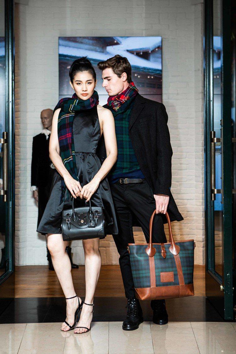 模特兒示範Polo Ralph Lauren節慶系列,女裝蝴蝶結短洋裝16,48...
