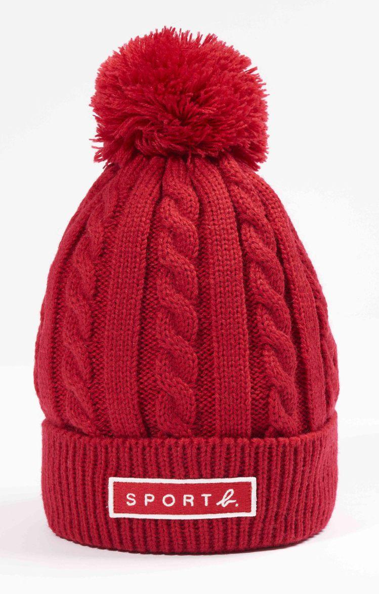 紅色毛帽,2,280元。圖/SPORT b.提供