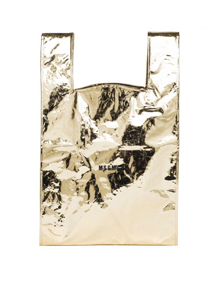 金色Logo購物袋,7,800元。圖/Paul Smith提供