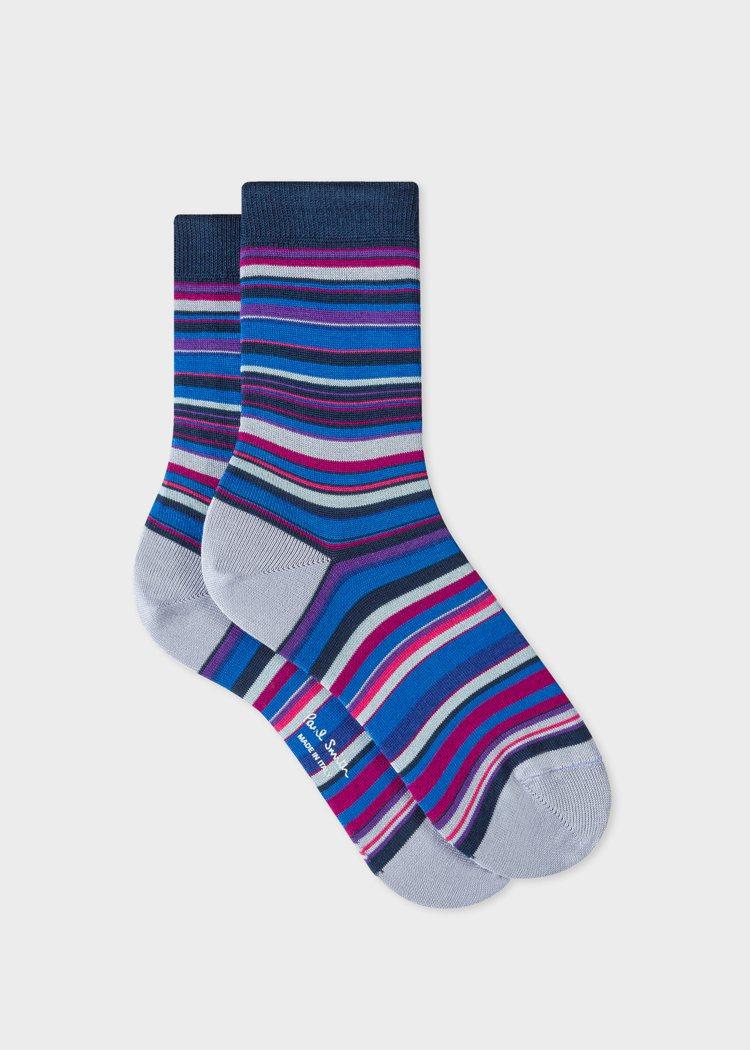 女裝彩條襪,1,300元。圖/Paul Smith提供