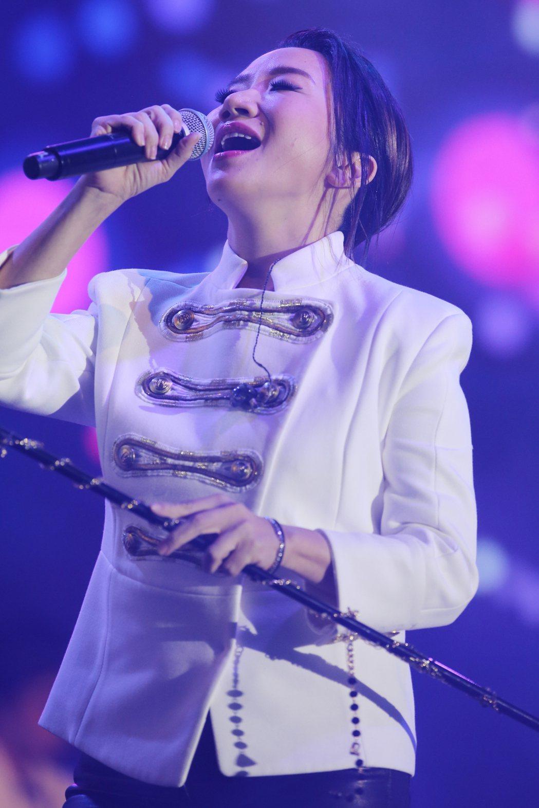 陶晶瑩在PChome演唱會壓軸獻唱。記者許正宏/攝影