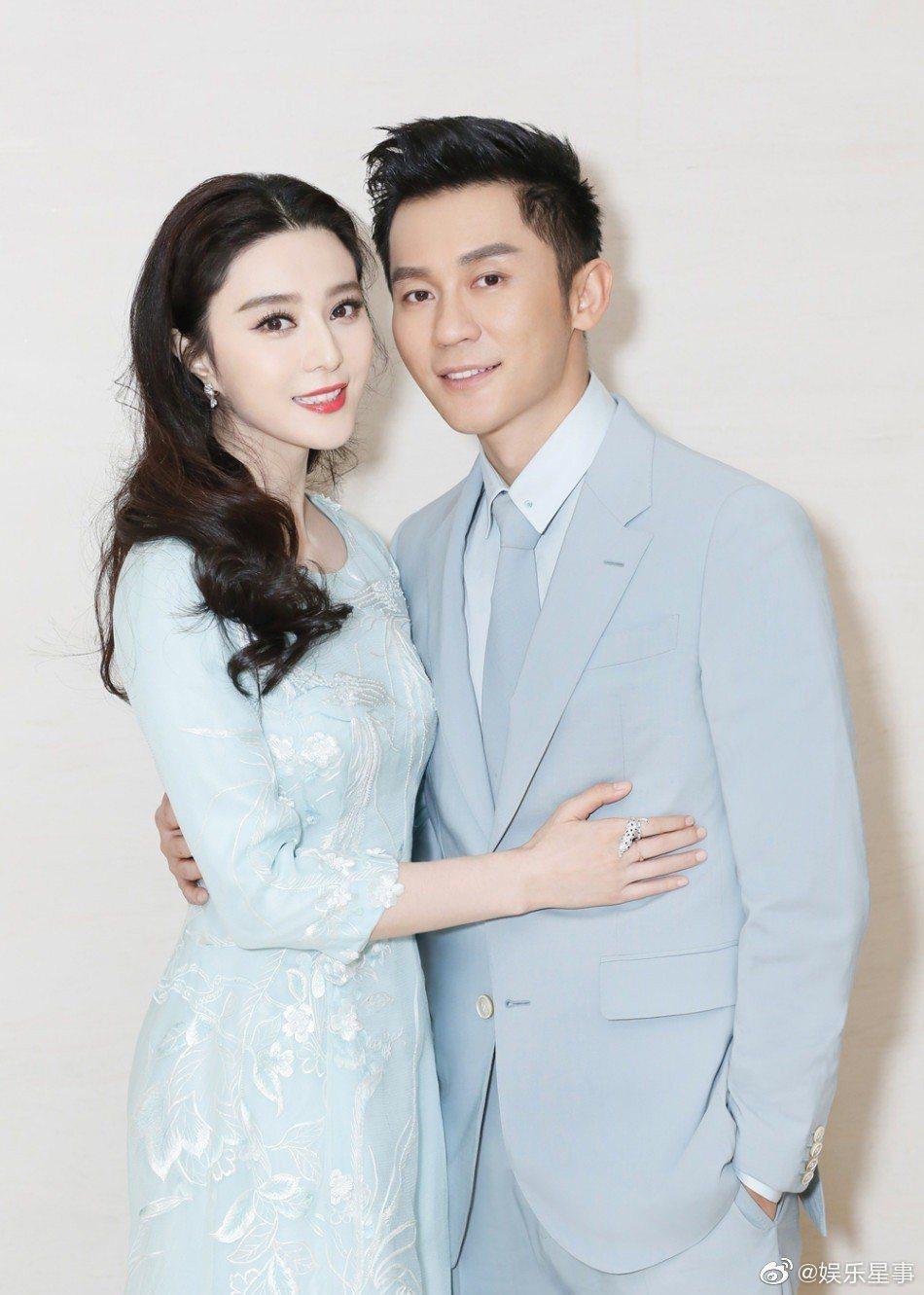 范冰冰(左)、李晨宣告分手,結束4年戀情,震驚全華人演藝圈。圖/摘自微博