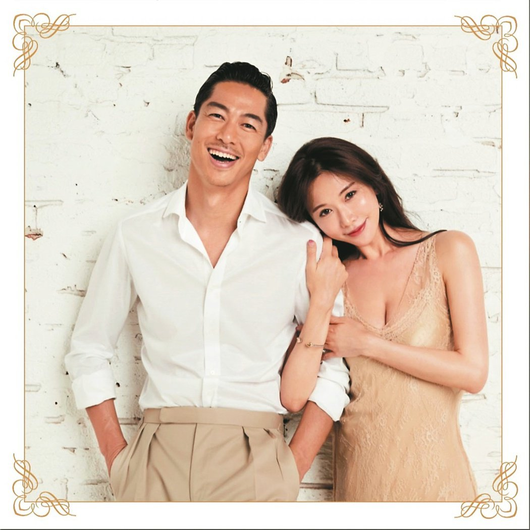 林志玲(右)、AKIRA結婚誓詞感人。圖/林志玲工作室提供