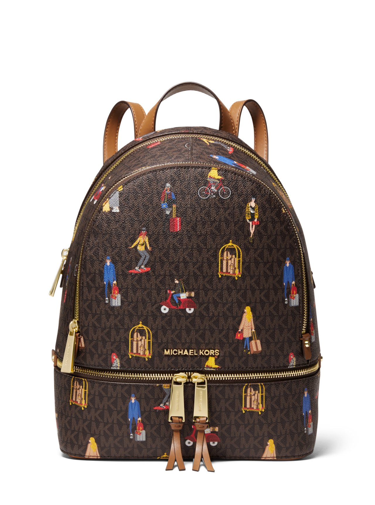 Jet Set 女郎彩繪後背包,售價16,700元。圖/MICHAEL KORS...