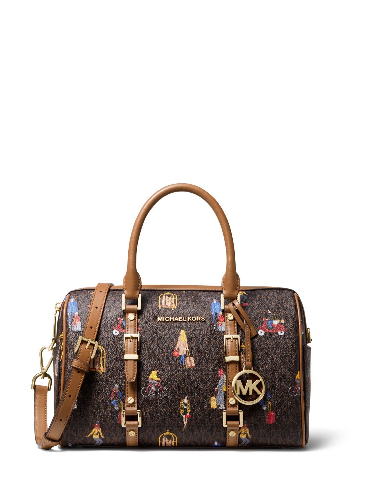 Jet Set 女郎彩繪波士頓包,售價17,800元。圖/MICHAEL KOR...