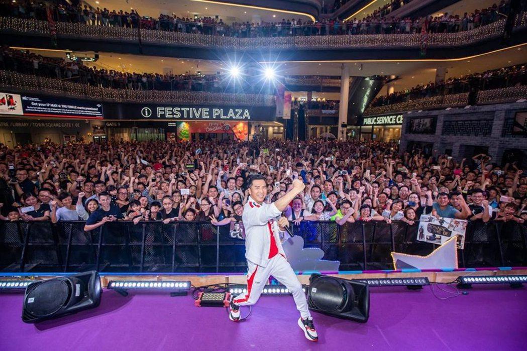 甄子丹前往新加坡宣傳「葉問4:完結篇」。圖/華映提供