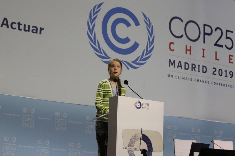 圖為16歲的環保鬥士童貝里(Greta Thunberg)。美聯社