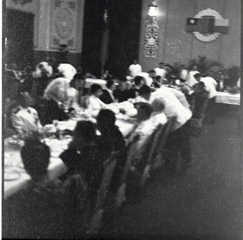圖為1963年蔣中正總統在總統府舉行國宴款待達荷美總統馬加夫婦。  圖/聯合報...
