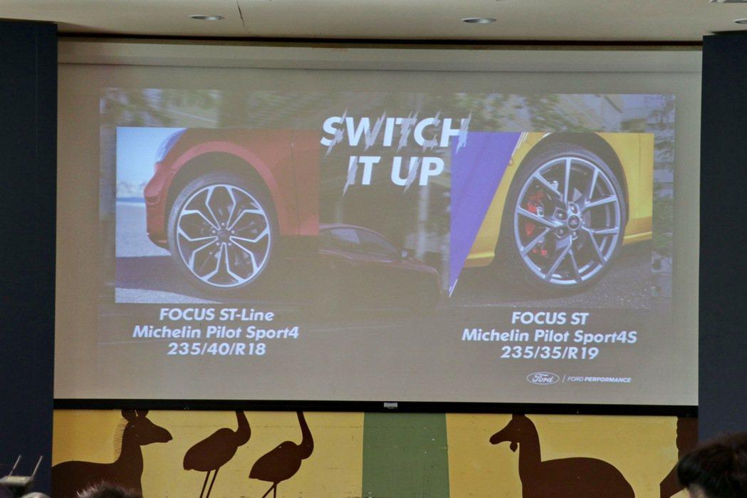 Focus ST配胎更加性能化。 記者陳威任/攝影