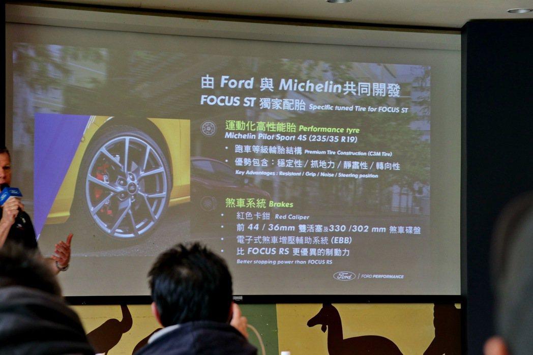 配胎是與Michelin共同開發的Michelin Pilot Sport 4S...
