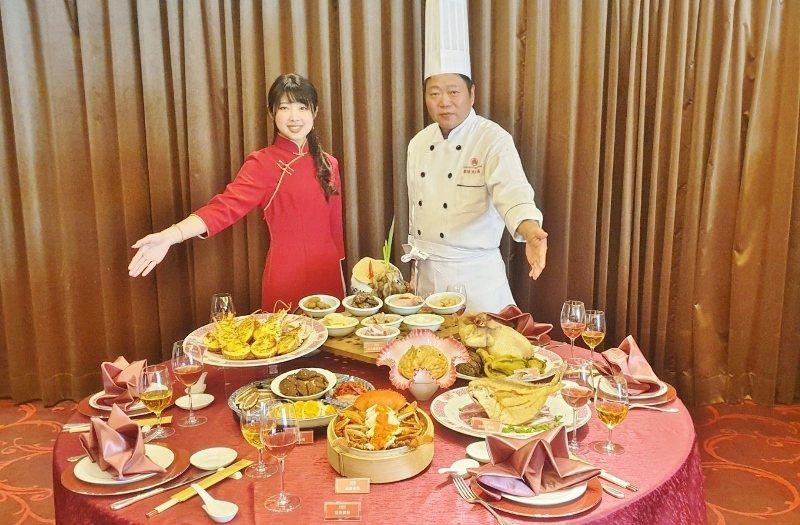 台式的年菜套餐。 徐谷楨/攝影
