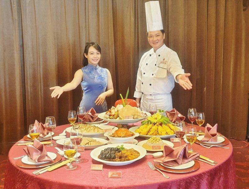 江浙料理年菜套餐。 徐谷楨/攝影