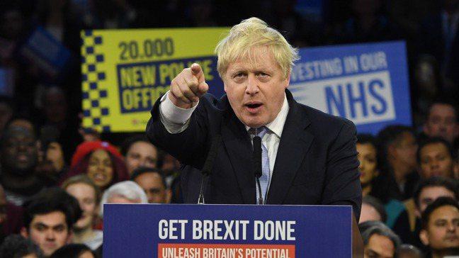 外界如今都等著看英國首相強生如何將「搞定脫歐」的競選口號變成政策。圖/歐新社