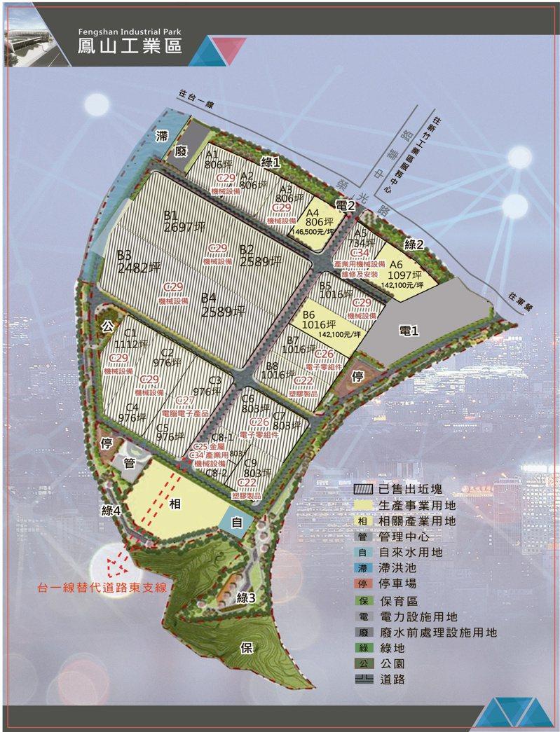 產業發展處表示,鳳山工業區公共設施完善,提供廠商優良的生產環境。圖/新竹縣政府提供