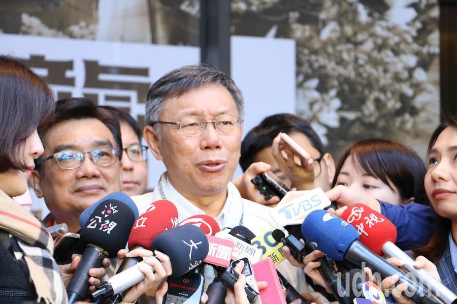 台北市長柯文哲上午參加大龍市場開幕。記者楊正海/攝影