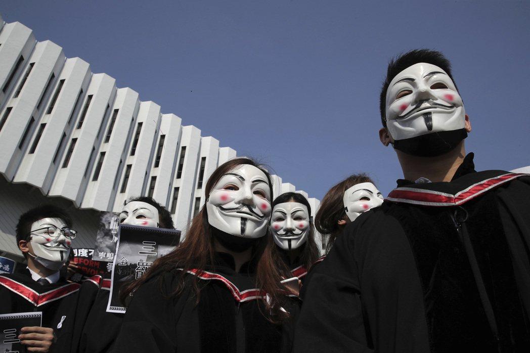 反送中風潮未息,香港大學聯招2020年度申請人數創新低。美聯社
