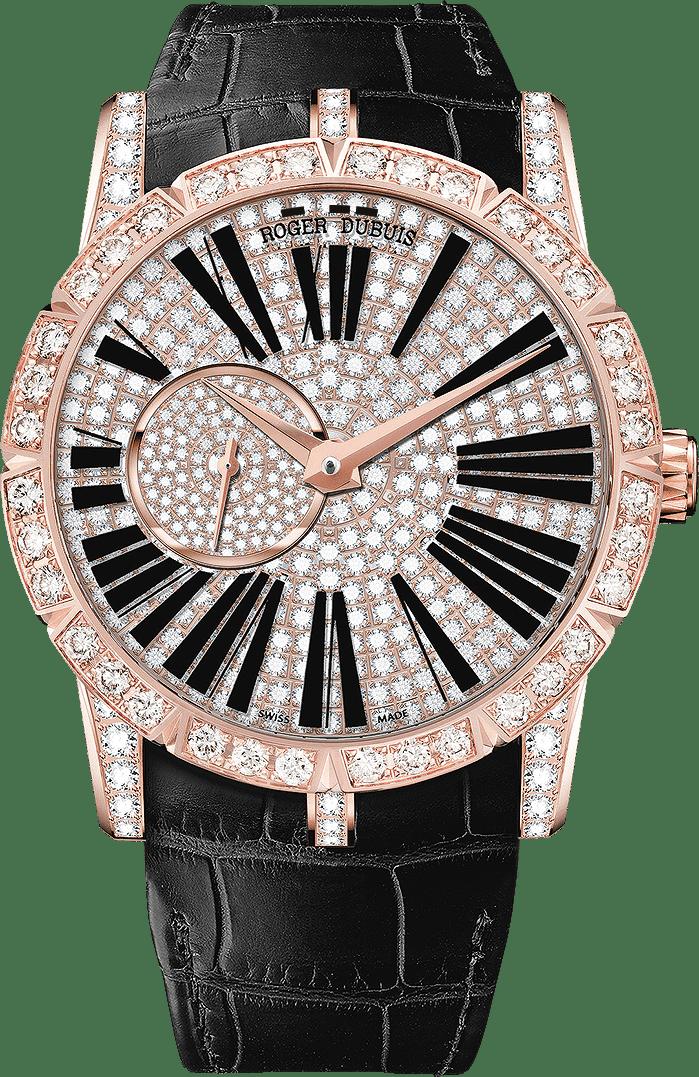 ROGER DUBUIS,EXCALIBUR42王者系列玫瑰金鑲鑽自動上鍊腕表,...
