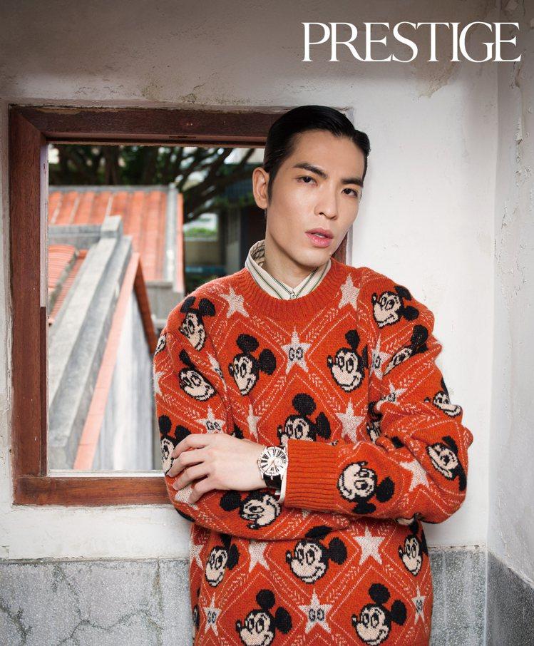 蕭敬騰與林宥嘉,在十二月的時尚雜誌登上雙封面,同場較勁。圖 / PRESTIGE...