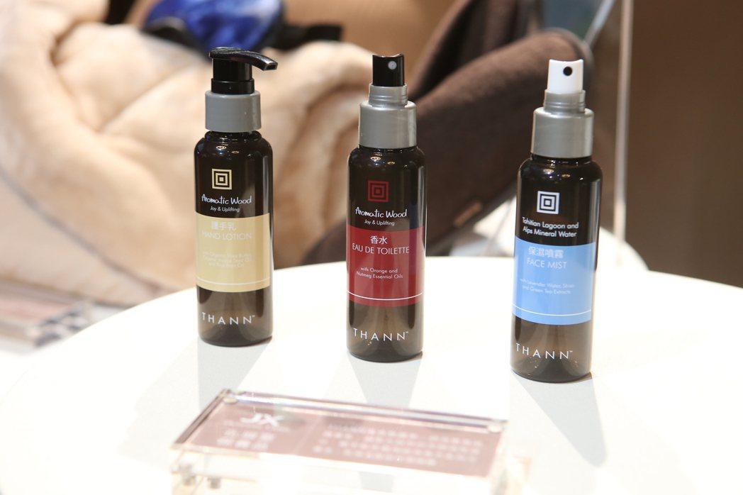 保養品選用泰國的香芬品牌THANN。記者陳睿中/攝影