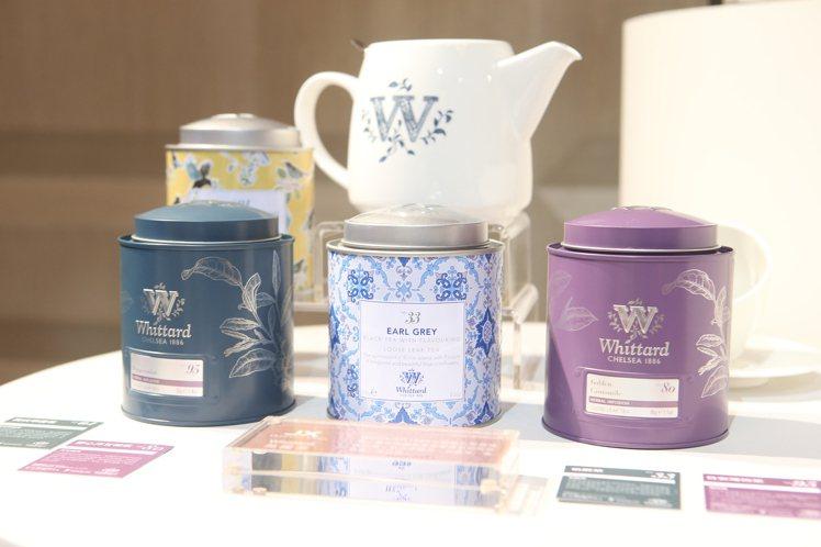 商務艙供應有4款Whittard英國倫敦茶品。記者陳睿中/攝影