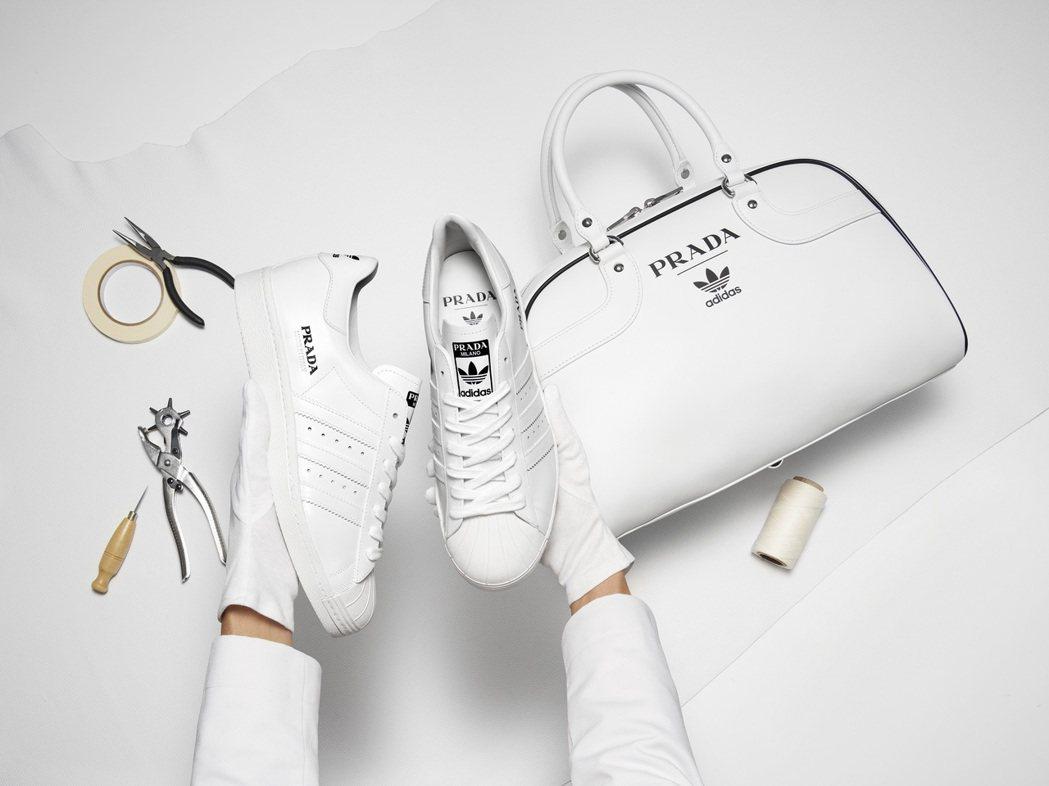 PRADA之前與adidas推出聯名系列。圖/PRADA提供