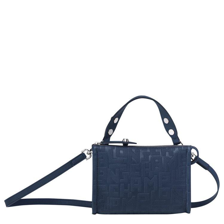 La Voyageuse LGP海軍藍斜背包,售價19,700元。圖/LONGC...