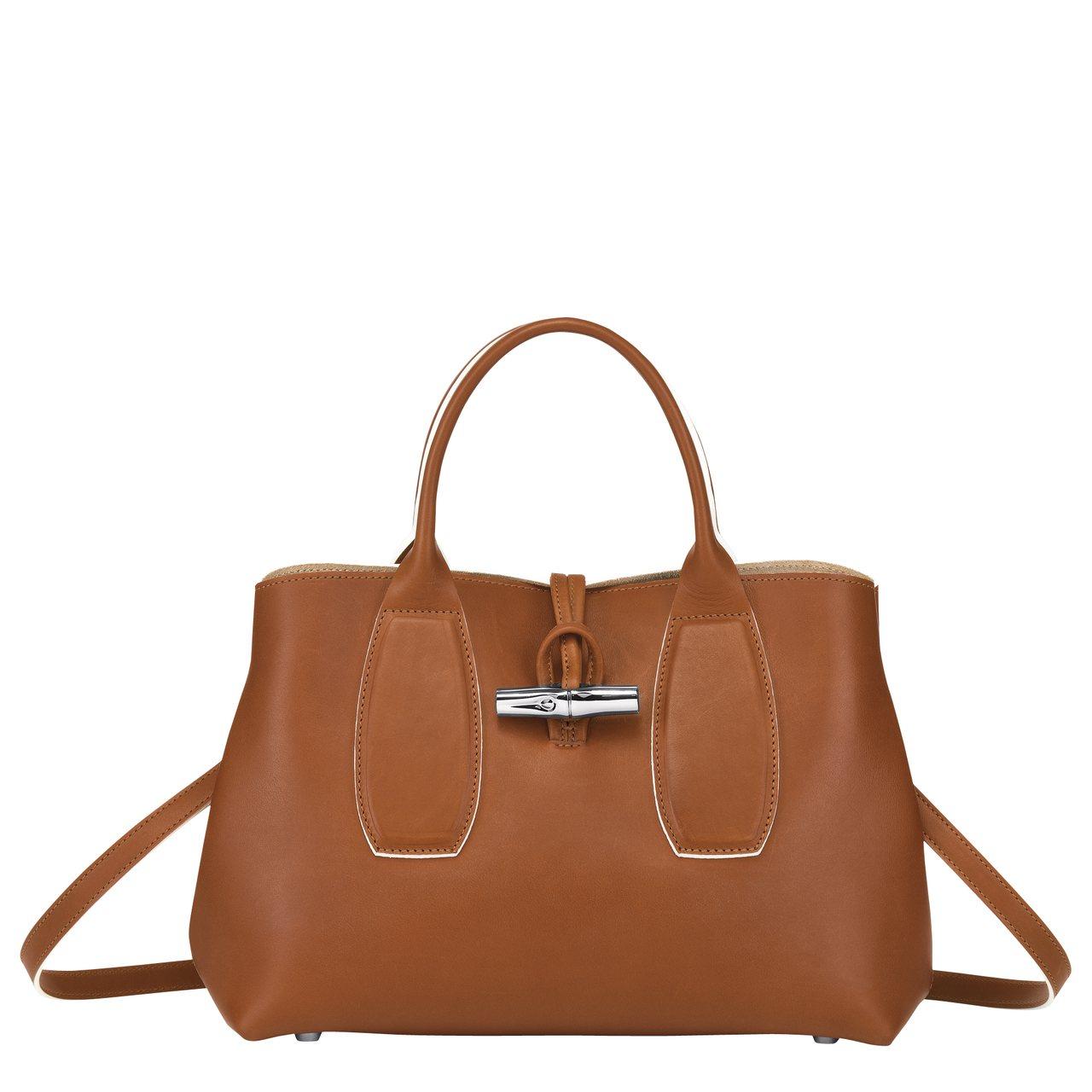 Roseau Luxe干邑中型手提包,售價39,300元。圖/LONGCHAMP...