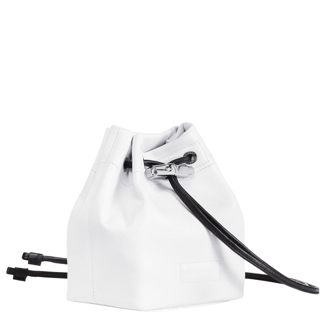 Roseau Souple白色迷你水桶包,售價18,300元。圖/LONGCHA...