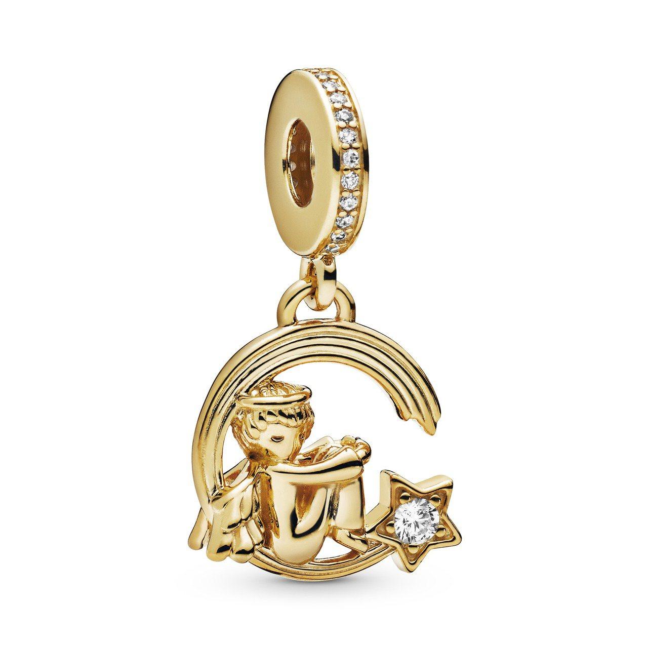 Pandora Shine 天使與流星鋯石吊飾3,280元。圖/Pandora提...