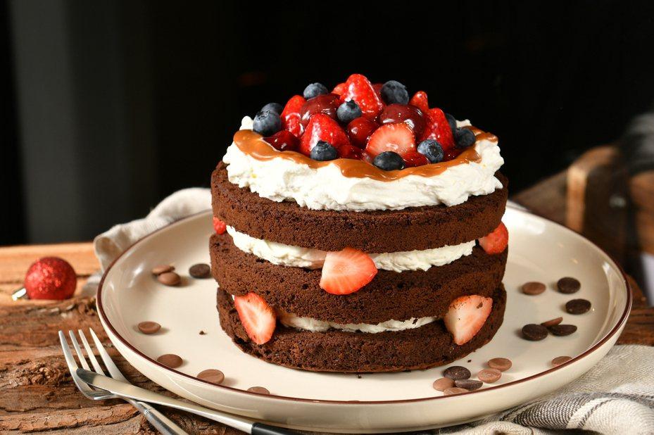 「法國的秘密甜點」人氣甜點,紅寶石焦糖巧克力。圖/環球購物中心提供