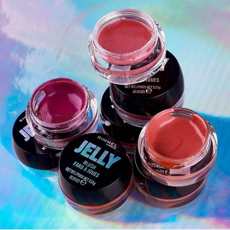 RIMMEL倫敦芮魅新推出Jelly水潤寶石腮紅凍,售價300元,共3色。圖/R...