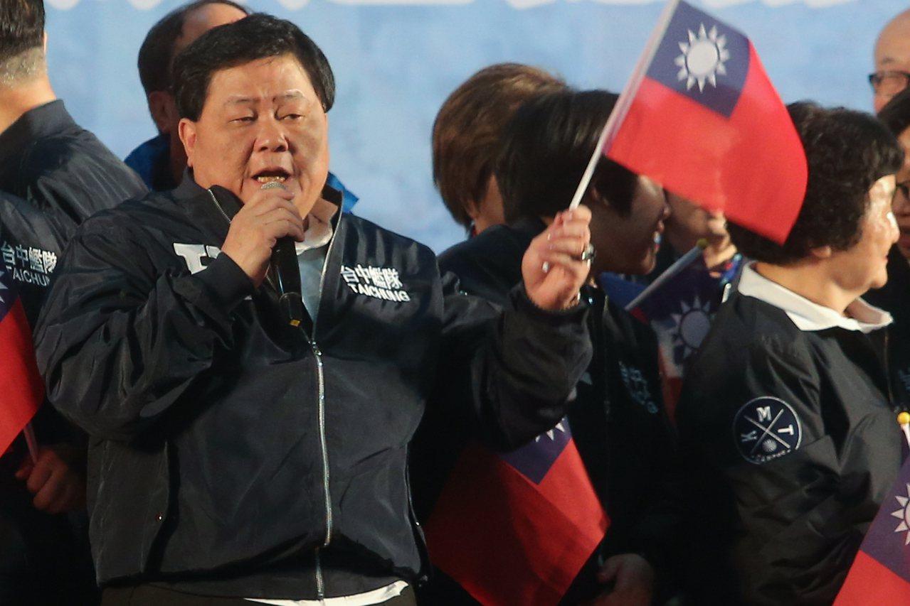 顏清標還説,如果民調準,去年台中市長盧秀燕也不會贏廿一萬票了!記者黃仲裕/攝影