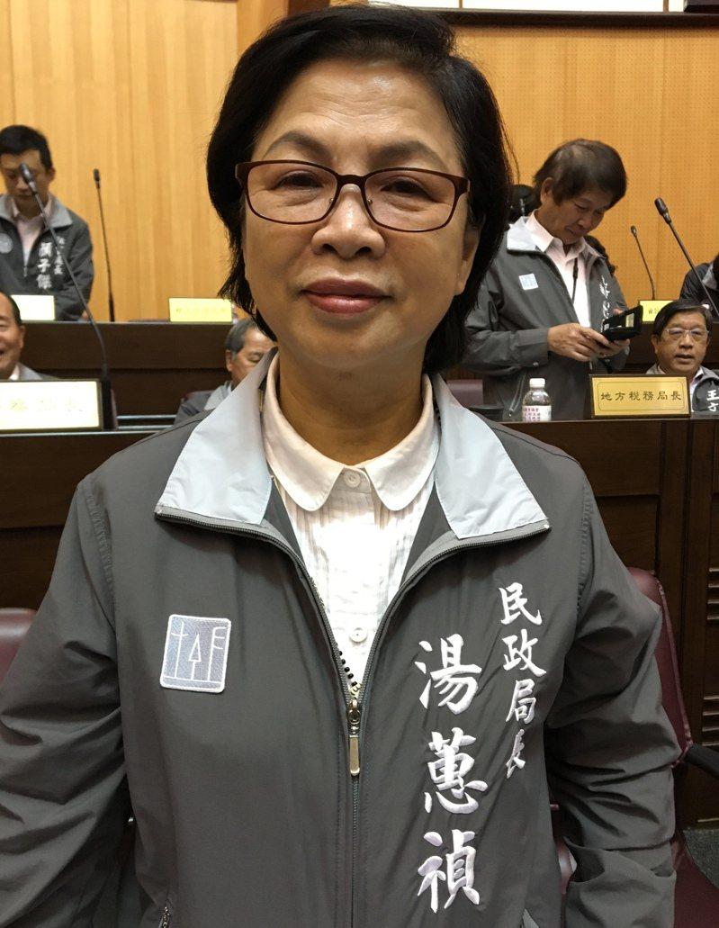 桃園市民政局長湯蕙禎辦理退休。圖/本報資料照
