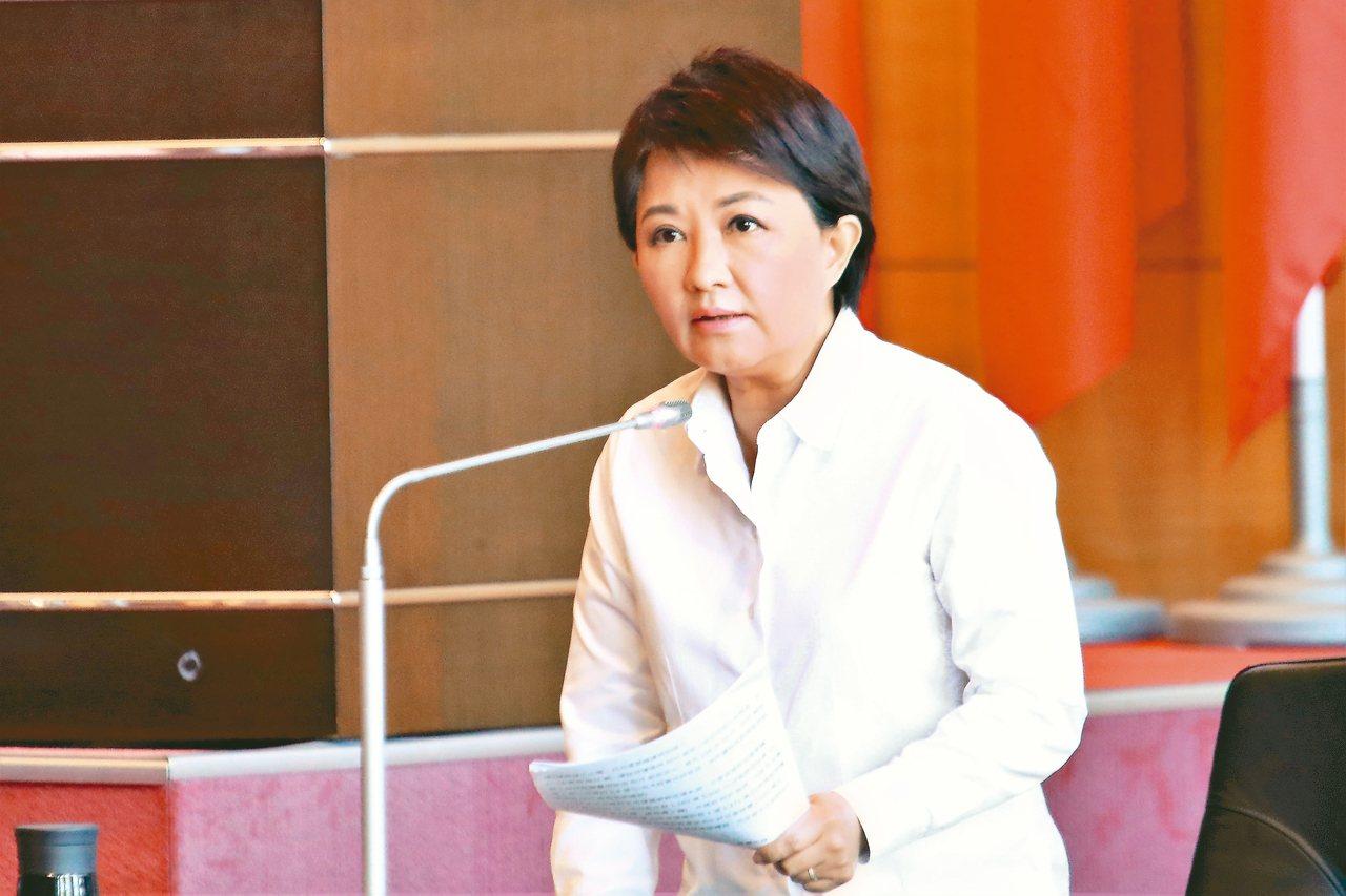 台中市長盧秀燕昨批台電帶頭耍賴、威脅。 圖/台中市新聞局提供