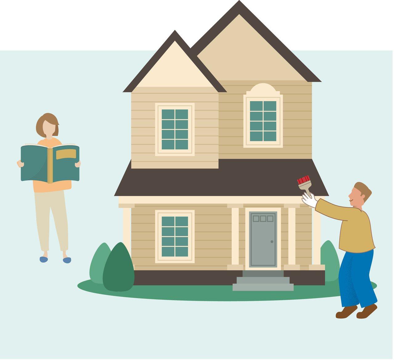 以房養老未來每月可貸得多少生活費,取決於不動產的價值。