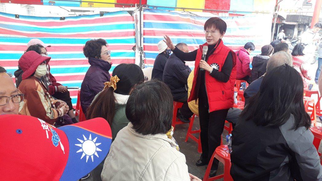 洪秀柱嗆辣直言的風格很受民眾認同、喜愛,在台南選區颳起「小辣椒旋風」。 圖/聯合...