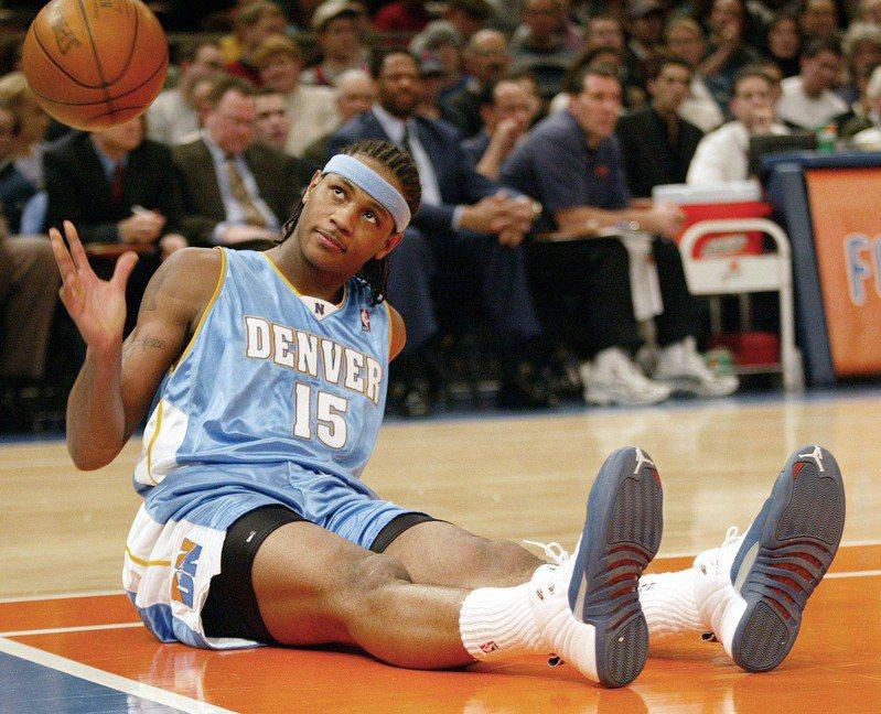 安東尼NBA生涯從金塊隊開始。 美聯社(資料照)