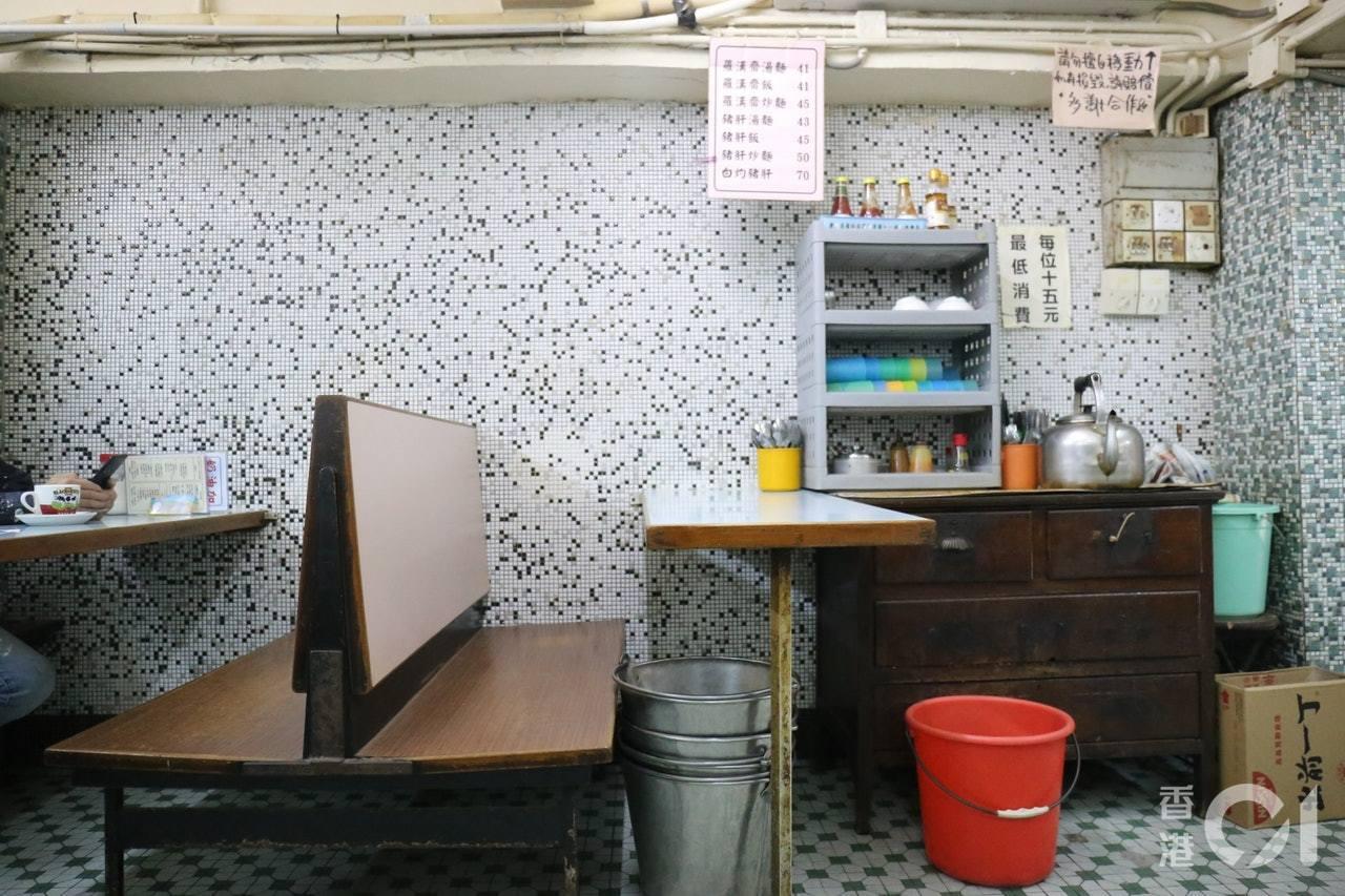 冰室裝潢仍保留60年代的味道。香港01記者郭倩雯/攝影